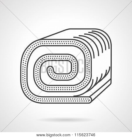 Confection thin line vector icon. Sweet roll