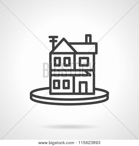 Rent of property simple line vector icon. Housing