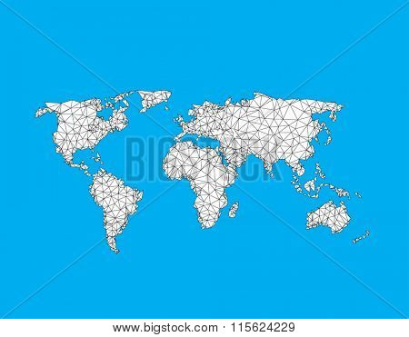 Earth map easy all editable