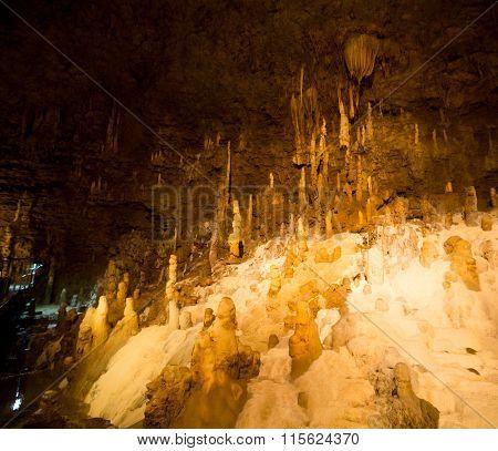 Stalactites in cave at Okinawa
