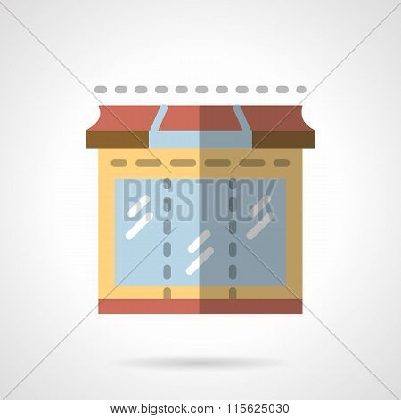Storefronts flat color vector icon. Showcase