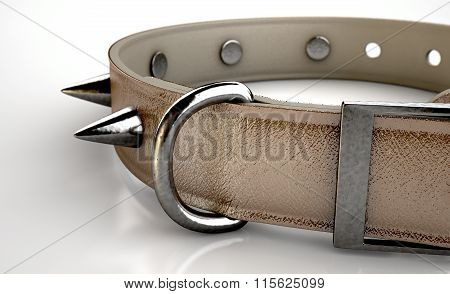 Leather Studded Collar