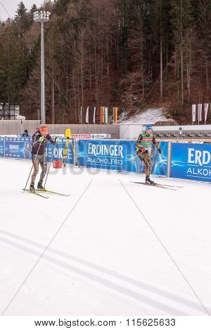 Ruhpolding, Germany, 01.06.2016: German training before the Biathlon World Cup in Ruhploding