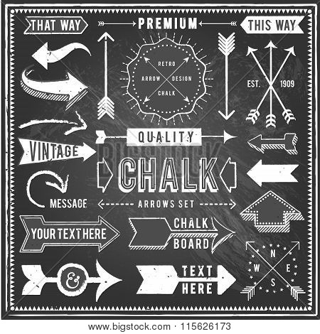 Vintage Chalkboard Arrows