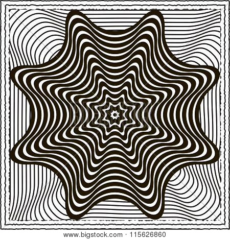 Optical illusion vector background
