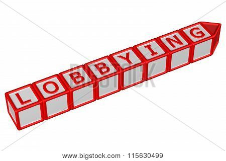 Blocks With Word Lobbying