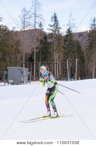 Ruhpolding, Germany, 2016/01/06: training before the Biathlon World Cup in Ruhploding