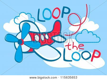 A Cute Plane Flying Loop The Loop In The Sky