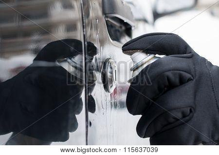 Defrosting Car Lock