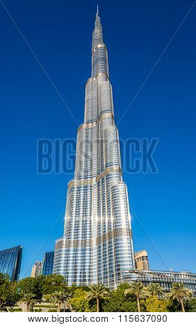View of Burj Khalifa tower in Dubai