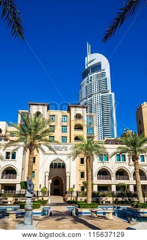 View of the Address Downtown Hotel in Dubai