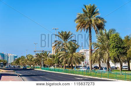 King Abdulla Bin Abd Aziz Street In Abu Dhabi
