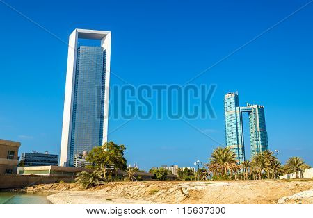 Skyscrapers In Abu Dhabi, The Capital Of The Emirates