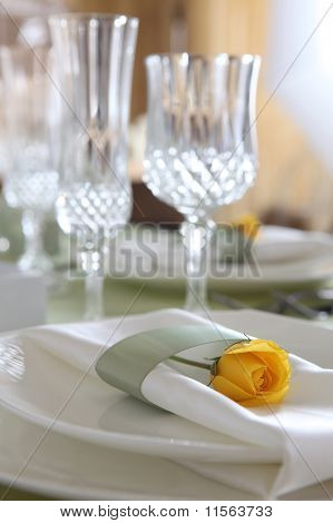 Banquet table dishes