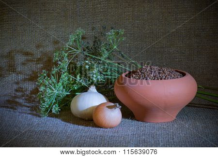 Still-life With Clay Pot