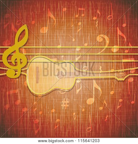 musical background musical lines in a loop guitar