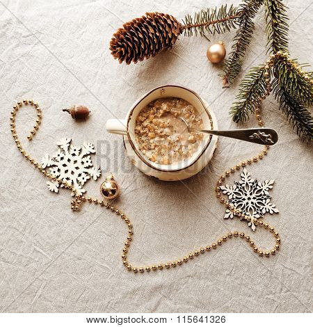 Snowflakes And A Cup Of Porridge