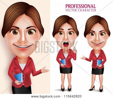Professional School Teacher Vector Character Smiling Holding Books
