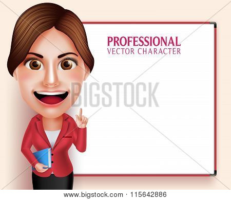 chool Teacher Vector Character Smiling Holding Books while Teaching Lessons