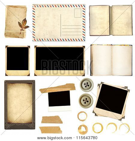 Collection elements for scrapbooking. Objects isolated on white background