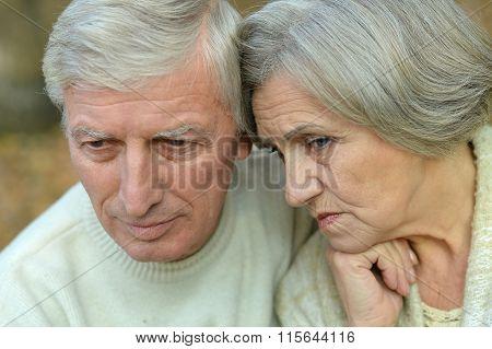 Close-up portrait of senior couple
