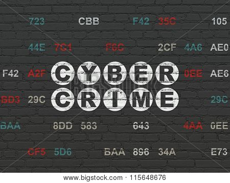 Protection concept: Cyber Crime on wall background