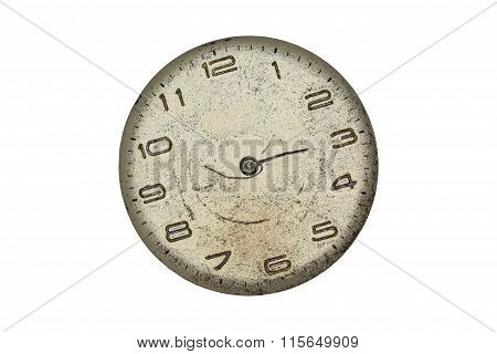 Vintage pocket watch - dial only  isolated