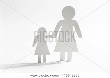 Single Mother With Daughter