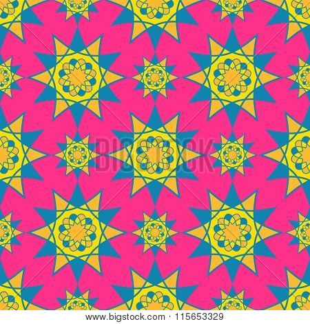 Bright mosaic spirograph vector background