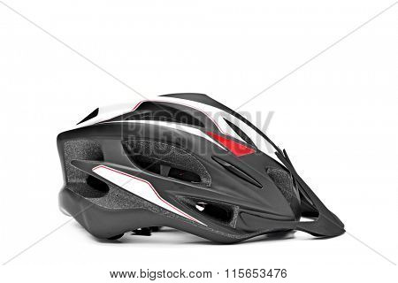 a protective helmet for different sports such as cycling or skating on a white background