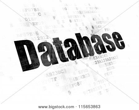 Database concept: Database on Digital background