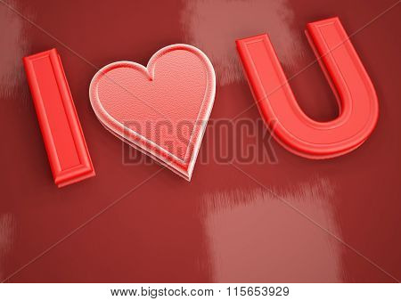 Dimensional Inscription Of Love You