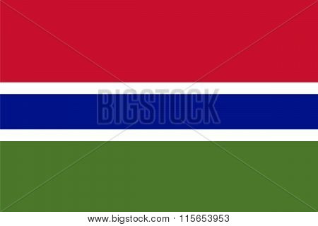 Standard Proportions For The Gambia Flag