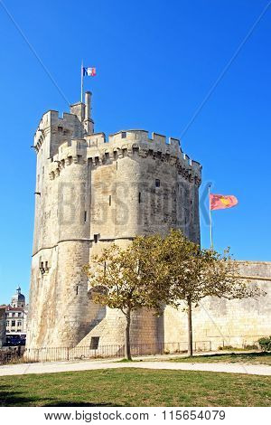 Old Port of La Rochelle, the Big Tower. (Charente-Maritime France)