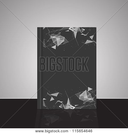 Abstract Composition, Line And Triangle Interlacement, Rays Plexus, A4 Business Brochure Title Sheet