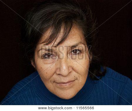 Stoic Ojibwe woman