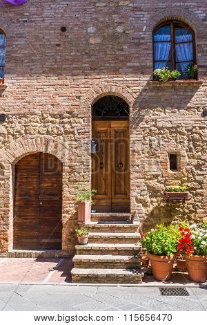 Ancient Tuscan Village in the Chianti Region, Italy