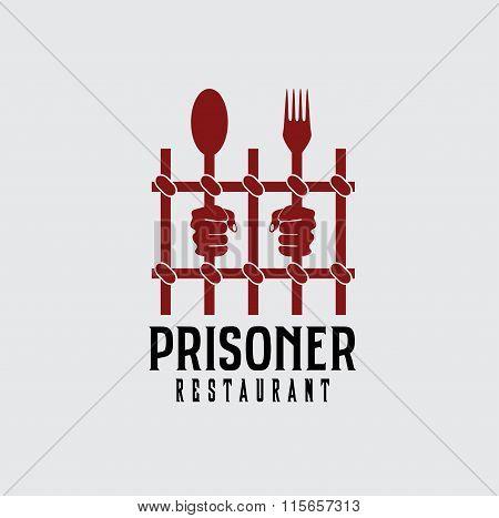 Prisoner Restaurant Concept Vector Design Template