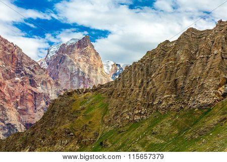 Mountain terrain panorama