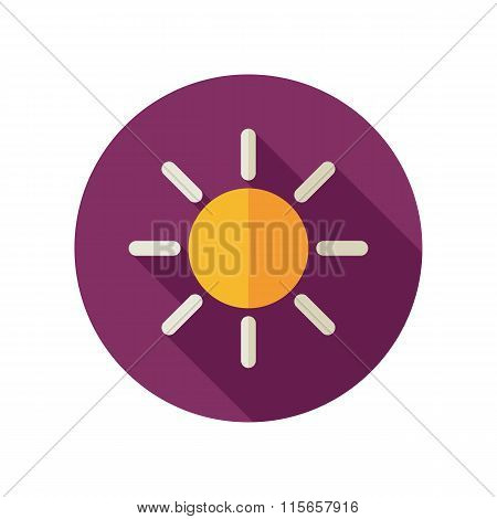 Sun Flat Icon. Meteorology. Weather