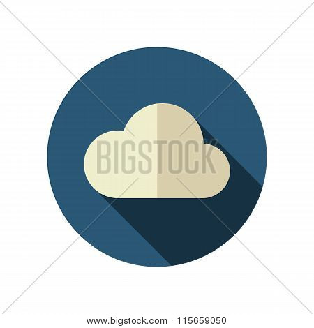 Cloud flat icon. Meteorology. Weather