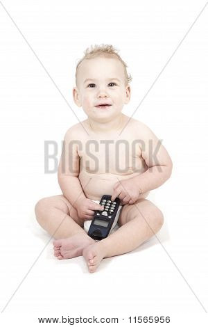 Baby Using The Phone