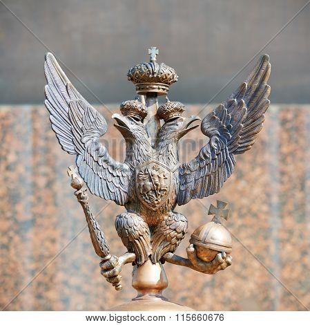 Bronze emblem of Russian Federation