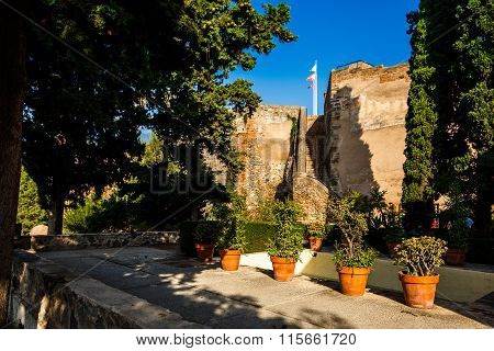 Courtyard of  Castillo de Gibralfaro