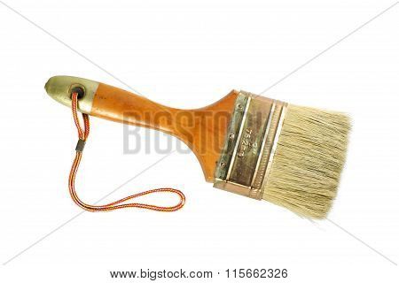 Paint Brush Size 76.2 Mm On The White Background.top View.