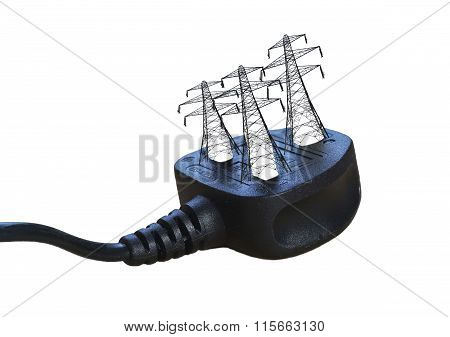 Electric Plug With Pylons