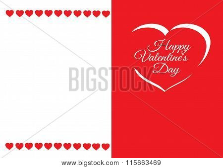 Valentine's day greeting card. Vector eps10 illustration