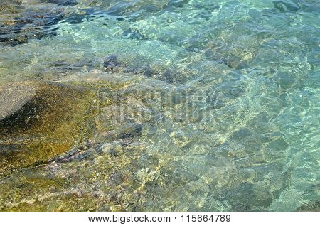 Sparkling Turquoise Sea Water