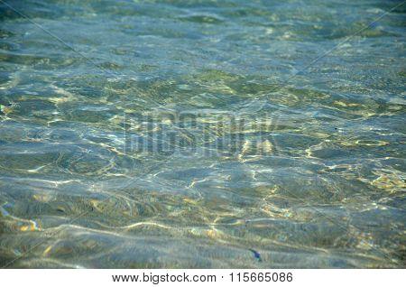 Transparent Sea Water