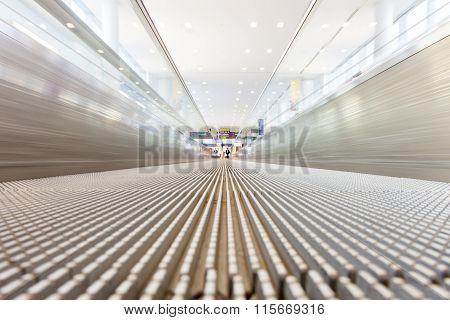 Moving Airport Slidewalk
